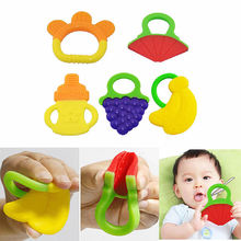 Baby Teether Fruit and Vegetable Shape Teether Silicone 2017 Brand New Baby Dental Care Toothbrush Training Baby Care Silicone