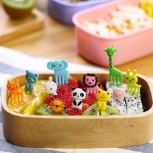 2 упаковки, специальный дизайн, Bento Kawaii, животные, еда, фрукты, выбор вилки, Ланч-бокс, аксессуар, Декор, инструмент#81167