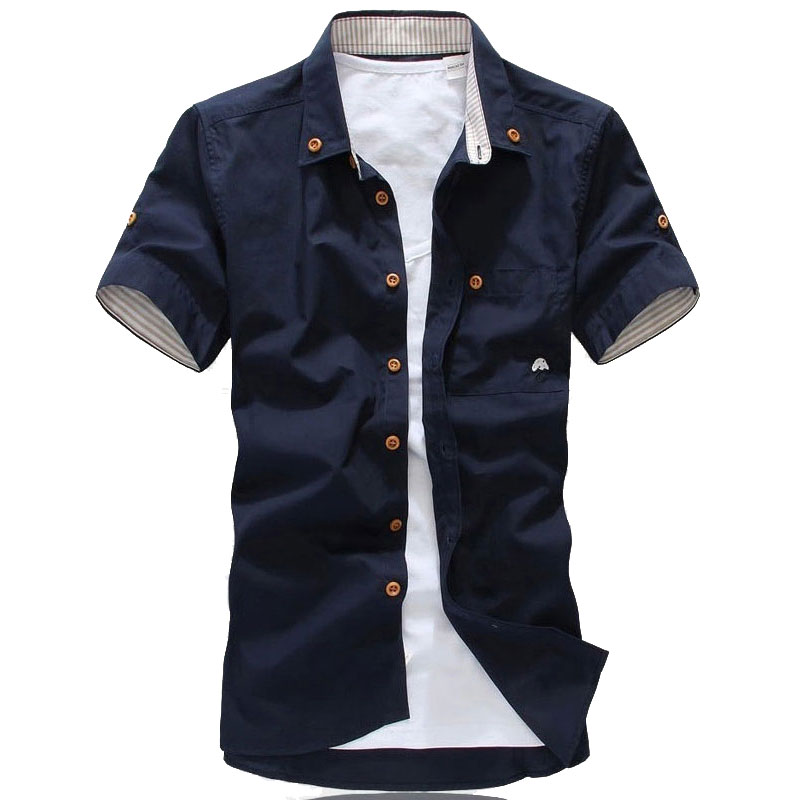 Popular Mens Cotton Shirt-Buy Cheap Mens Cotton Shirt lots from ...