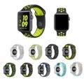 Nueva llegada de la correa de silicona de colores para series1 2 apple iwatch reloj NIKE 42mm Caucho deporte pulsera wrist band hombres Con adaptador