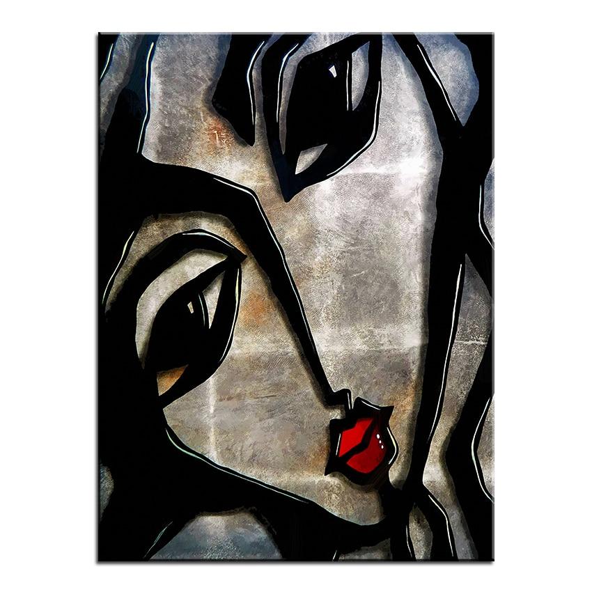 Duży rozmiar Drukowania Obraz Olejny zadrapania malarstwo Ścienne - Wystrój domu - Zdjęcie 2