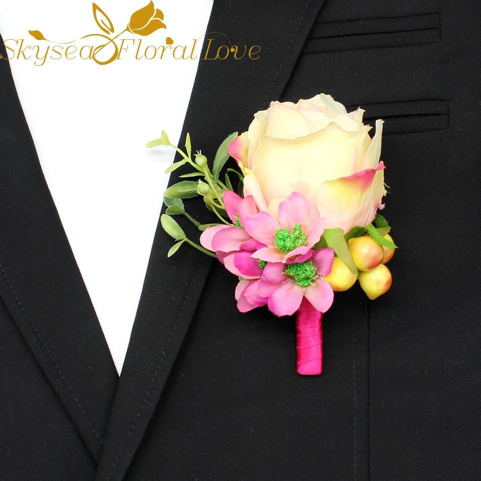 Artificial Flower Arrangement Wedding Corsages And Boutonnieres Silk