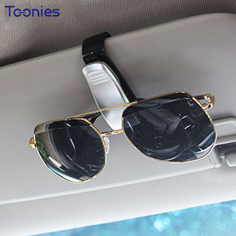 New ABS Sunglasses Car Eyeglass Holder Smart Fortwo Forfour Card Ticket Pen Clip Auto Accessories Cars Glass Holder Accessories