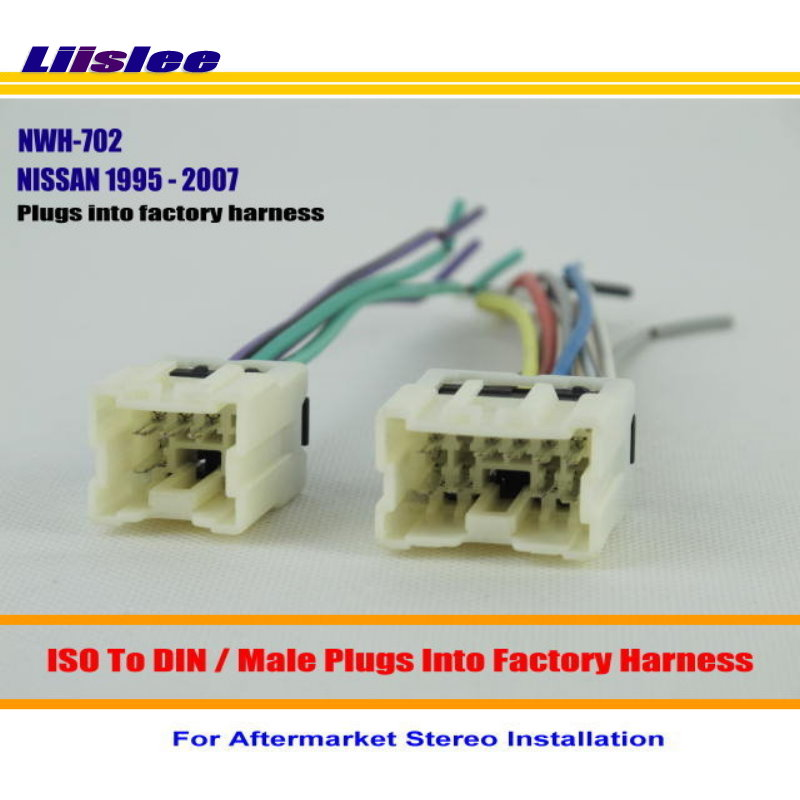 Liislee Car Radio Harness Cable Adapter For NISSAN ARMADA FRONTIER MAXIMA MURANO PATHFINDER Plugs into Factory liislee car radio harness cable adapter for nissan armada frontier
