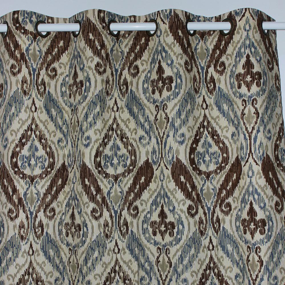 nueva llegada browen paisley estilo ventana de cortinas de lino tienda saln dormitorio puerta exterior casa
