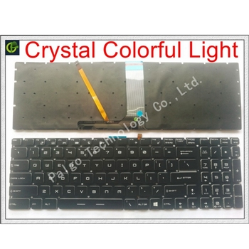 New English Crystal RGB backlit colorful Keyboard for MSI MS-16J5 MS-16J6 MS-1783 MS-1785 MS-16J1 V143422FK1 S1N-3EUS223-SA0 US фото