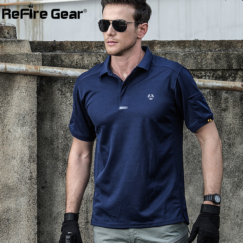 994032424a98 Breathable Urban Tactical Polo Shirt Men Summer Brand Coolmax Quick Dry Army  Polo Man Military Shirt