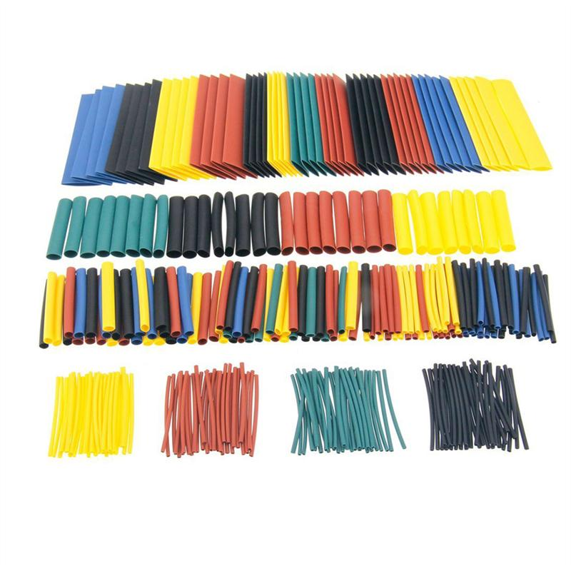 цена на Connectors 328Pcs Car Electrical Cable Tube kits Heat Shrink Tube Tubing Wrap Sleeve Assorted 8 Sizes Mixed Color Wire Connect
