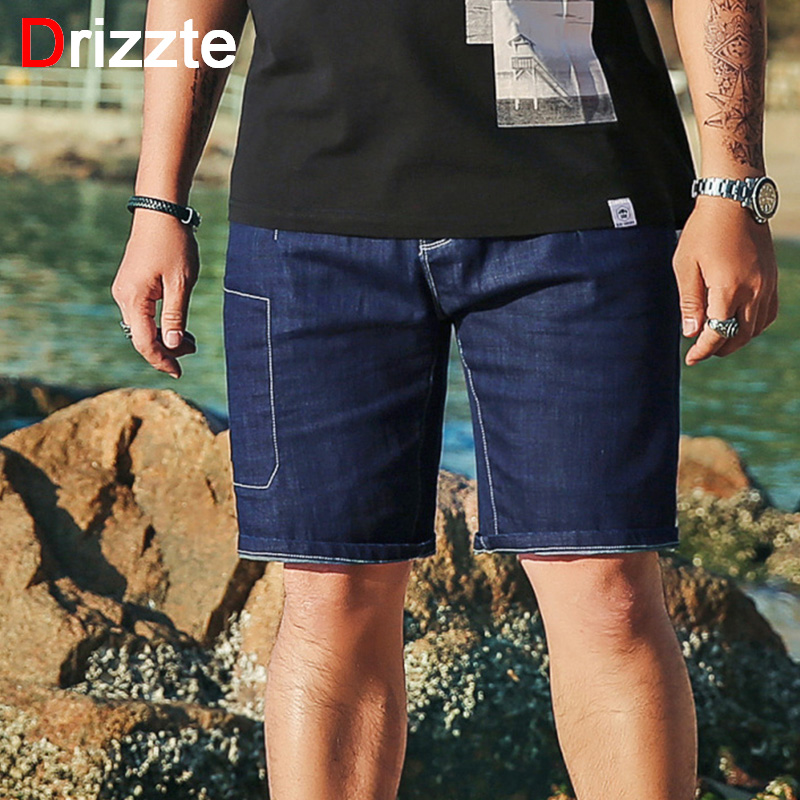 a86f6c8b27f Drizzte Mens 2018 Plus Size Big and Tall Stretch Big Pocket Dark Blue  Stretch Lightweight Jeans Shorts for Men Jean 40 42 44 46