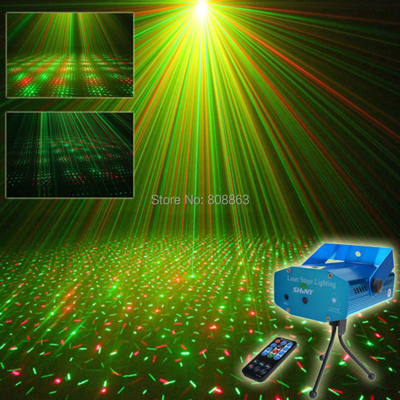 Mini R&G Remote Full Stars Sky Pattern Laser Projector Club Bar Shop Dance Disco Party Xmas DJ Stage lighting Light Tripod R1