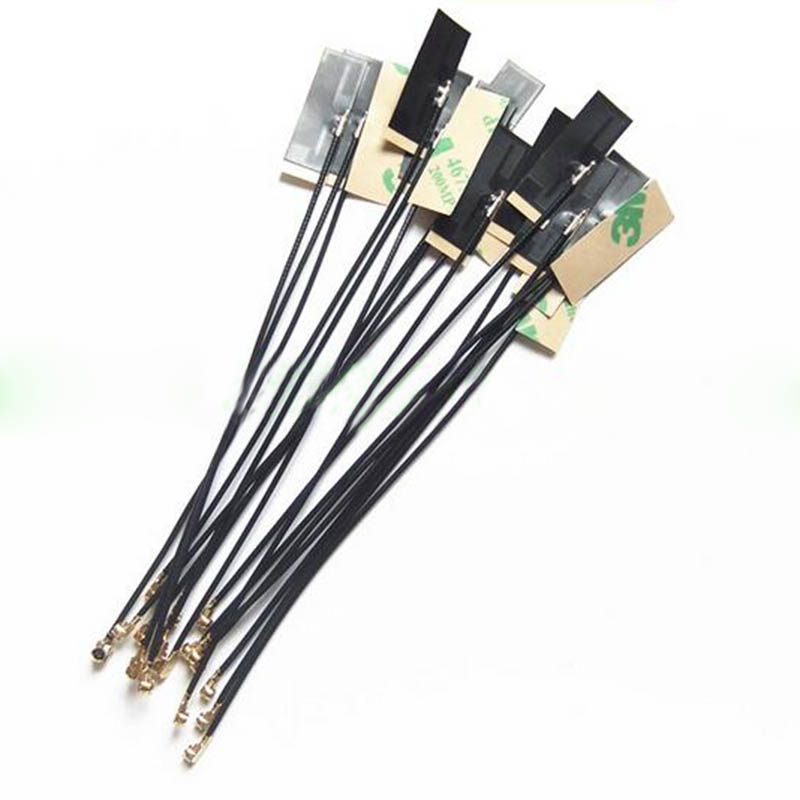 2pcs 2.4Ghz 3dbi Internal Antenna FPC Bluetooth Wifi Module Aerial 25*9*0.1mm IPEX Connector