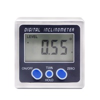 ELECALL Digital inclinometer mini bevel box with three surface magnets angle level ruler measures electronic protractor