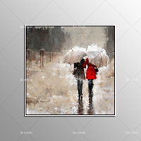 100 Handpainted Free Shipping Oil Painting On Canvas Handmade Wall Art Modern Rain Landscape Picture Two