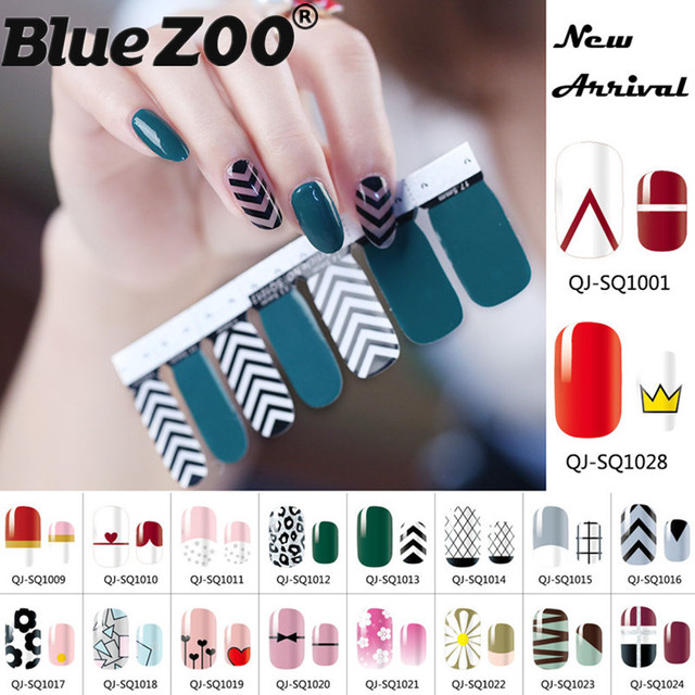 New Mix Nail Design Spring Summer Full Cover Vinyls Decals Nails Sticker Art Decorations Manicure