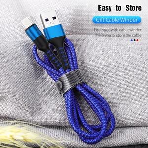 Image 2 - Micro USB Kabel 3A QC3.0 Schnelle Lade USB Daten Kabel für Samsung Xiaomi Huawei Android Handy Microusb Ladegerät Kabel