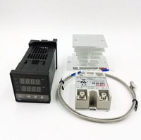 REX C100 Digital RKC PID Thermostat Temperature Controller Digital REX C100 40A SSR Relay K Thermocouple