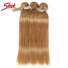 洗練されたミックス 27/30 ストレート毛織り 100% レミー人間の毛延長 3/4 バンドル 10 に 26 インチ