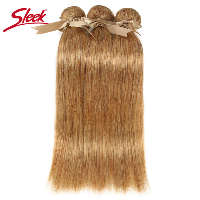 Sleek Mix 27/30 Straight Hair Bundles Brazilian Hair Weave Bundles 100% Remy Human Hair Extensions 3/4 Bundles 10 to 26 Inches