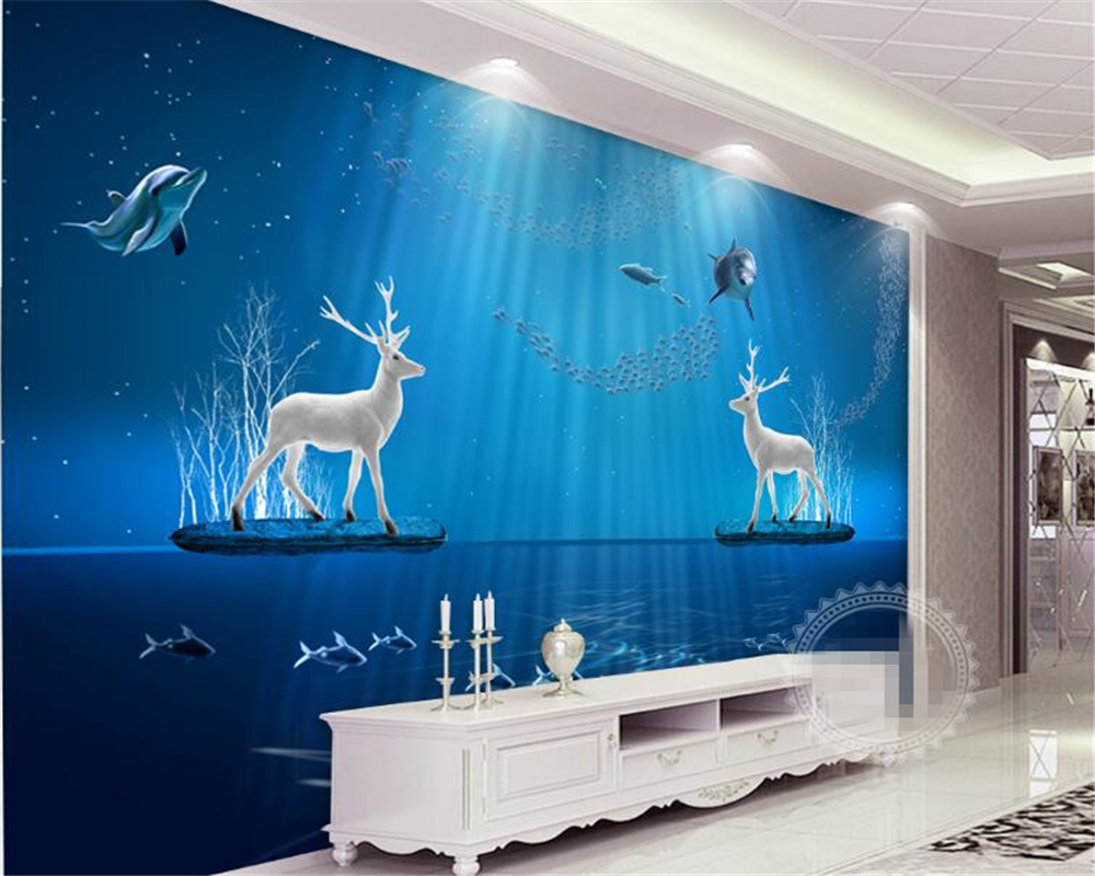 Ocean Wallpaper For Bedroom Online Get Cheap Wall Paper Bedroom Ocean Aliexpresscom