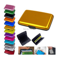 12 colors Waterproof New Deluxe Aluma Aluminum rfid blocking Credit Card wallet Protect credit card safety from the theif