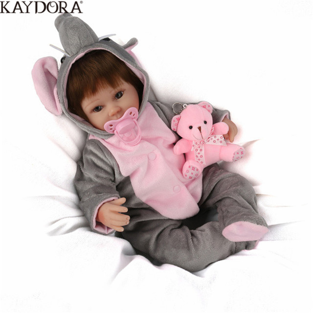 KAYDORA Realistic Reborn Doll Handmade Lifelike Newborn Baby Doll Magnetic Pacifier Brinquedos Toys For Children Birthday Gifts