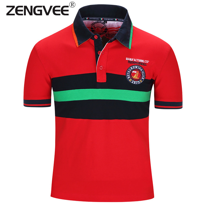 New Brand Men Fahion Polo Shirt Flag Style Patchwork Breathable Short Sleeve Turn Down Collar Cotton Polo Shirt(China (Mainland))
