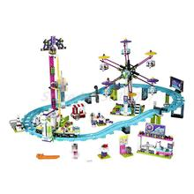 LEPIN 01008 Amusement Park Roller Coast 1124Pcs Mini Bricks Friends Series 3D 41130 Building Blocks Toys For Children Gifts
