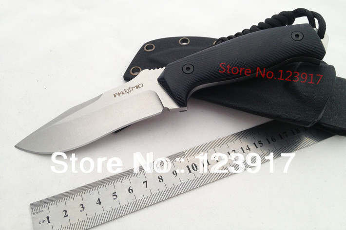 D2 Fox Fixed Blade Knife G10 Handle Survival EDC Knife Straight Knife Camping Multi Knives Outdoor Hunting Tools K Sheath new hunting knife fixed blade knife 9cr18mov blade g10 handle camping survival gift straight knife outdoor tools with k sheath
