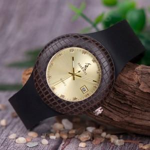 Image 3 - BOBO kuş kadın ahşap saatler bayanlar Metal anlamıyla ile deri kayışlar takvim kol saati gösterisi tarihi özel logo kuş yuvası