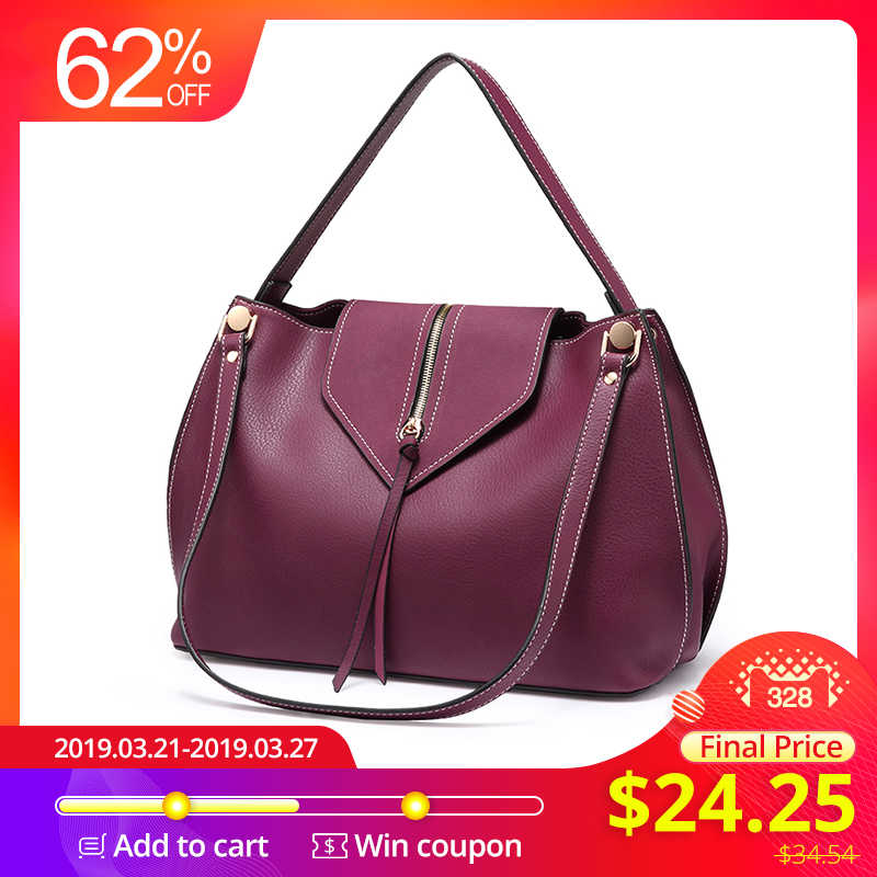 c56fcf0a28af Realer сумка женская большая на плечо, дизайнер сумок высокого качества из  искуственной кожи, женская