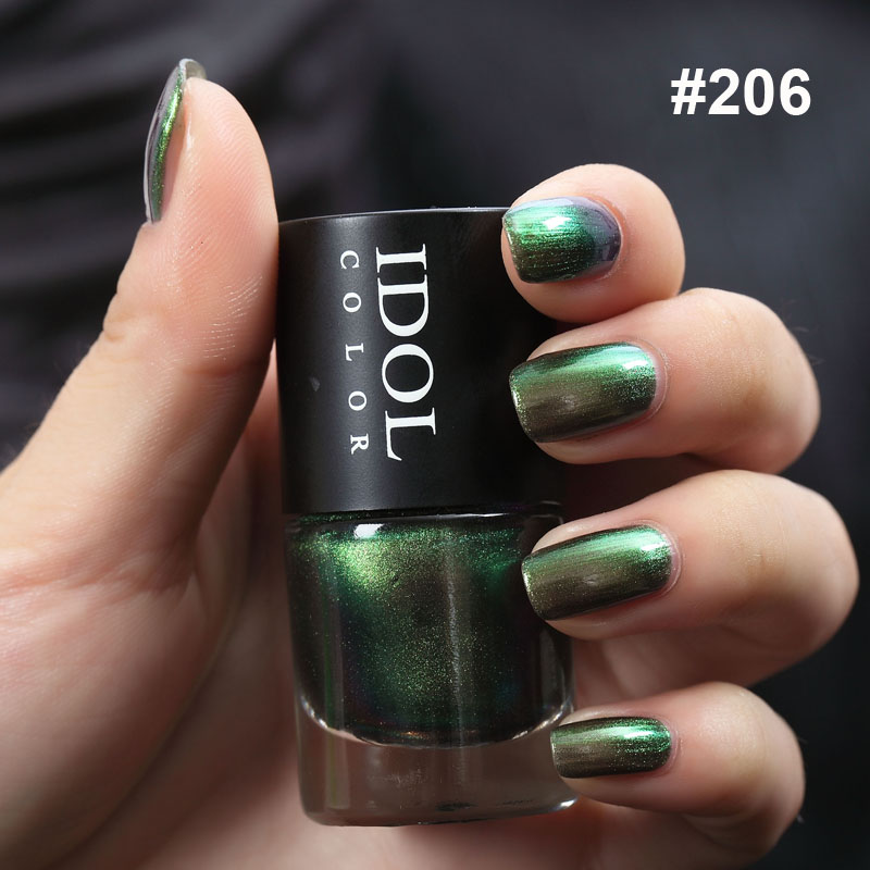 Idol Color 10ml Chameleon Series Quick Dry Holographic Holo Shinny Nail Polish Varnish Long Lasting And Smooth Polish Nail