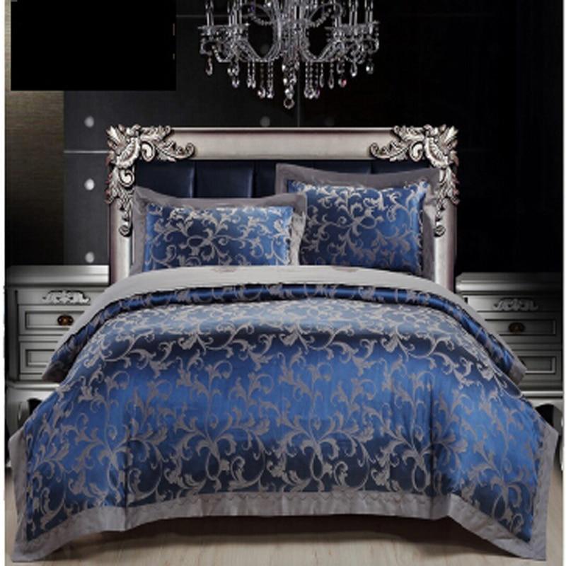 Aliexpress Com Buy Royal Blue Luxury Duvet Cover Sets