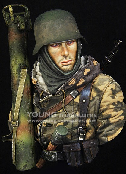 Échelle 75 German WSS Totenkopf échelle 1942 1//10th non peinte Kit de buste en résine