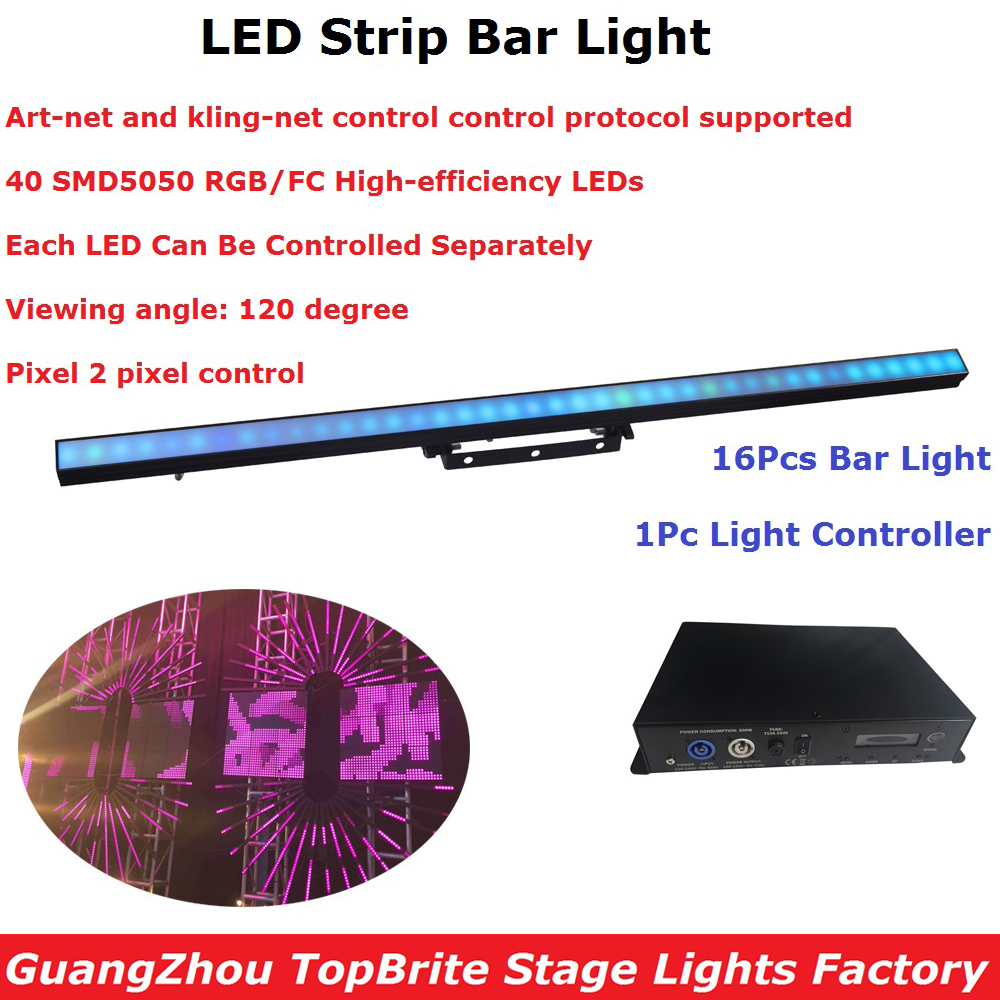 16Pcs Carton Package LED Strip Light SMD5050 RGB Full Color 100cm LED Bar Lights With 25MM Pixel Pitch For Indoor Entertainments