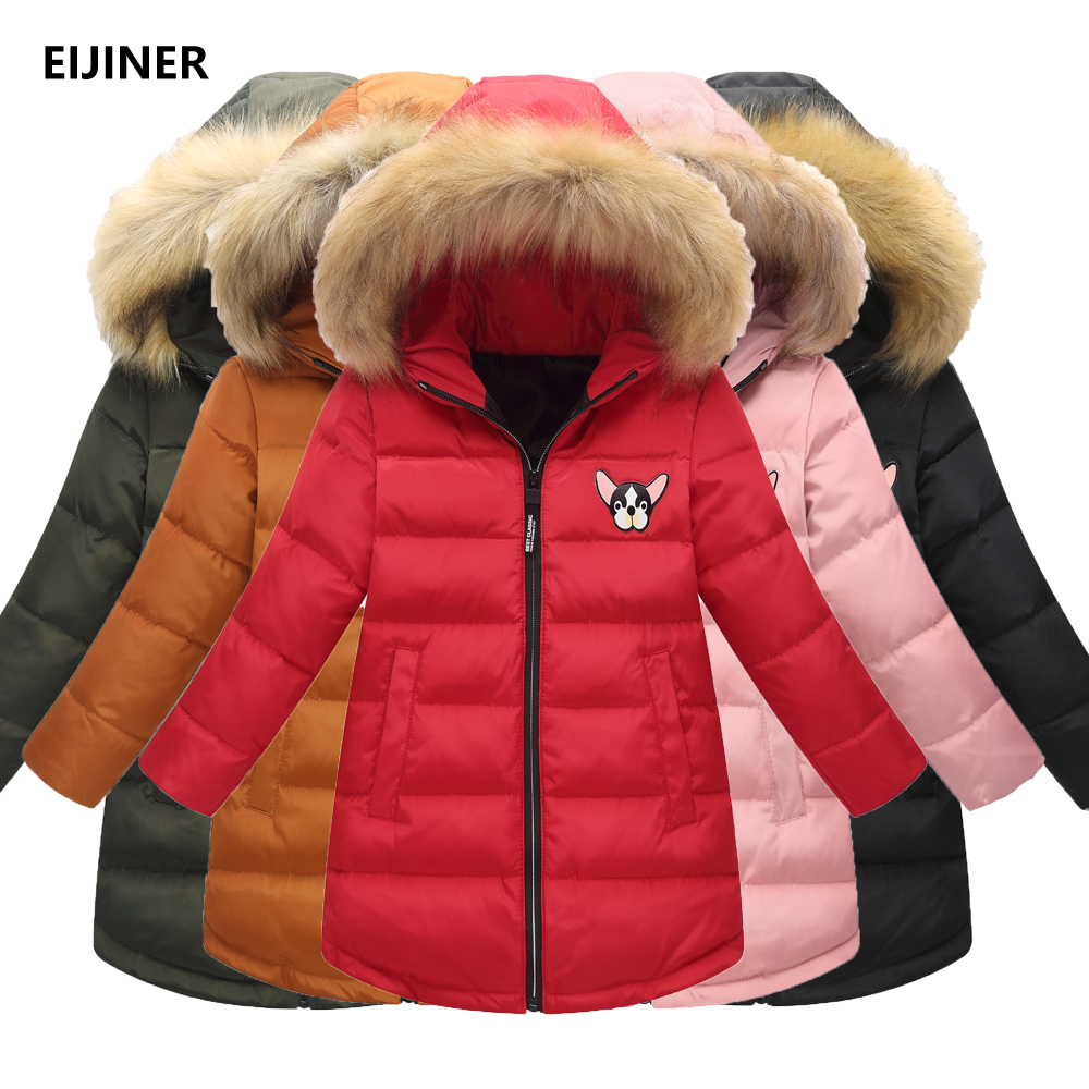 3-12Years 90% White Duck Down Girls Down Coats Winter 2018 New Kids Down Coat Children Jacket Parka Outerwear Hooded Girls Coats