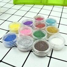 KLPT Nail Glitter 3D Glitters Powder Gradient for UV Gel Polish For Art Decoration Sugar Manicure