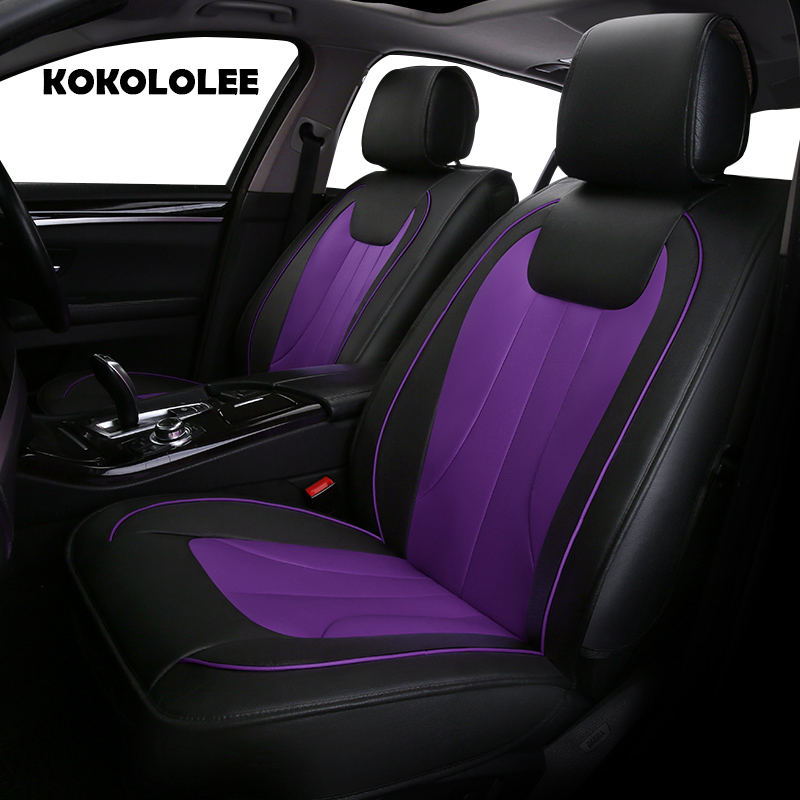 KOKOLOLEE pu leather car seat covers for Chevrolet Lada Opel Skoda Volvo MiNi Mazda car accessories auto styling Automobiles pu leather automotive universal car seat covers t shit fit seat cover accessories for kia aio ford focus 2 lada granta toyota