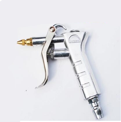 0.3 Inlet Dia Trigger Air Blow Dust Gun Cleaning Tool Silver Tone