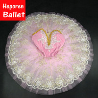 Customized Girl Pink Ballet Dress Hard Organdy Ballet Dance,Light Pink Sleep Beauty Ballet Tutu Ballerina Party Pancake Tutus
