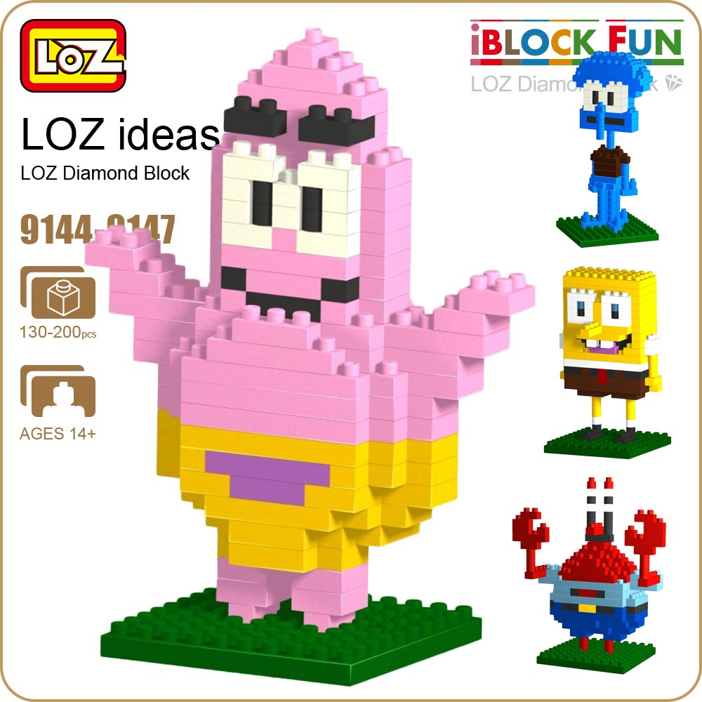 LOZ Diamond Blocks Marine Life Animals Starfish Crab Octopus Mini Bricks Building Blocks Set Kids Assembly Toys Pixels 9144-9147