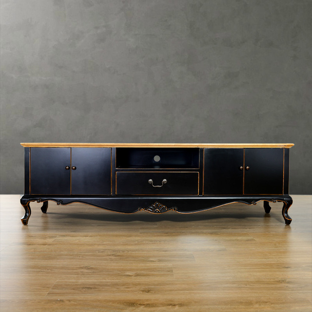 High Quality Luxury American Style Solid Wood Furniture Lengthen Tv Cabinet  Multicolor