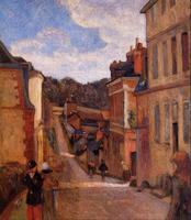 High quality Oil painting Canvas Reproductions Rue Jouvenet, Rouen (1884) by Paul Gauguin hand painted