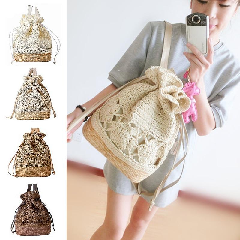 novo cordão sacolas de praia Use : Straw Beach Bag, Fashion Backpack, Drawstring Bag, School Bag