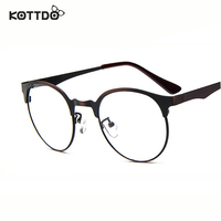 מסגרת מתכת עגולה אופנה לגברים KOTTDO קלאסי נשים מותג משקפיים אופטיים מסגרת משקפיים oculos דה גראו