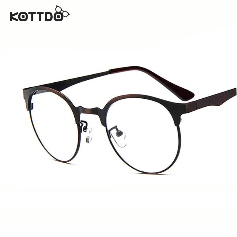 KOTTDO Moda Redonda de Metal Quadro Para Mulheres Dos Homens Da Marca  Clássico Óculos de Armação Vidros do Olho Óptico óculos Armação de óculos  oculos de ... 1916c7fc14