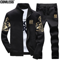 "2016 New Fashion Hoodies Men ""AR"" Letter Print Sweatshirt Men Tracksuit Suit Set Mens Hoodies and Sweatshirts + Pants  5XL"