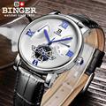 Switzerland BINGER мужские часы Топ люксовый бренд Модные Военные автоматические механические 100 м водонепроницаемые спортивные часы мужские часы