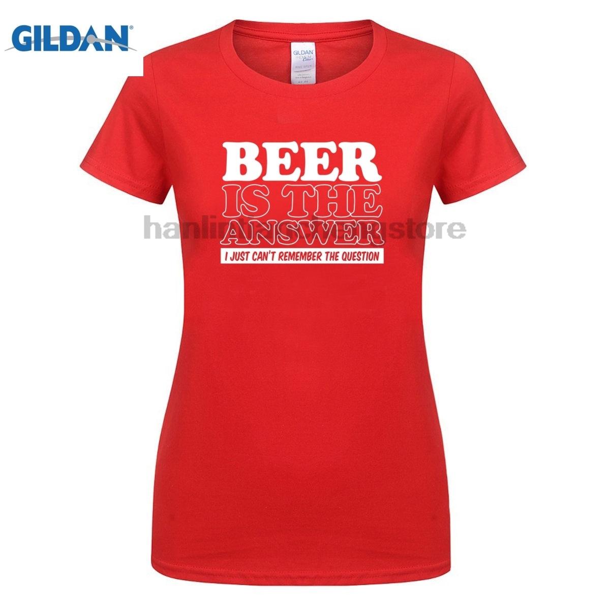 GILDAN Biere Is The Answer Drole T-Shirt Pour Hommes Papa Fete Des Peres CAMRA Real Ale Summer Style women T Shirt for women