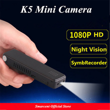 Cheapest prices K5 Mini Camera HD 1080P Mini DV Camera Infrared Night Vision Sports Camera Micro Voice Video Recorder Digital Camcorder pk SQ8