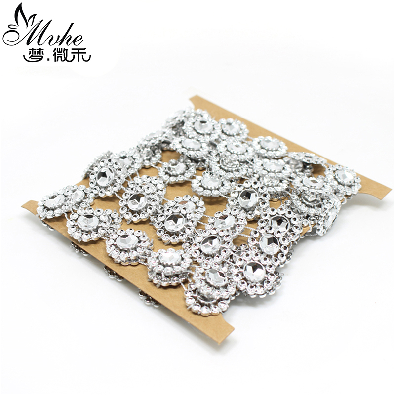 new year Flower Diamond Mesh Bling Crystal Ribbon Wrap Trim christmas decorations for home 2 yards DIY Wedding cake decoration